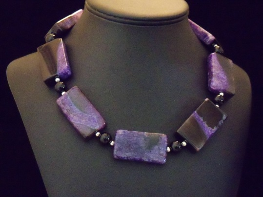 #886-Purpleblackagate,onyx,sterling,19inwith4inext. (2)